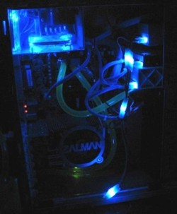 Набор из 6 ти светодиодных платок для подсветки молексов   синего цвета
