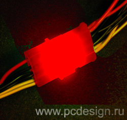 Набор из 6 ти светодиодных платок для подсветки молексов   красного цвета