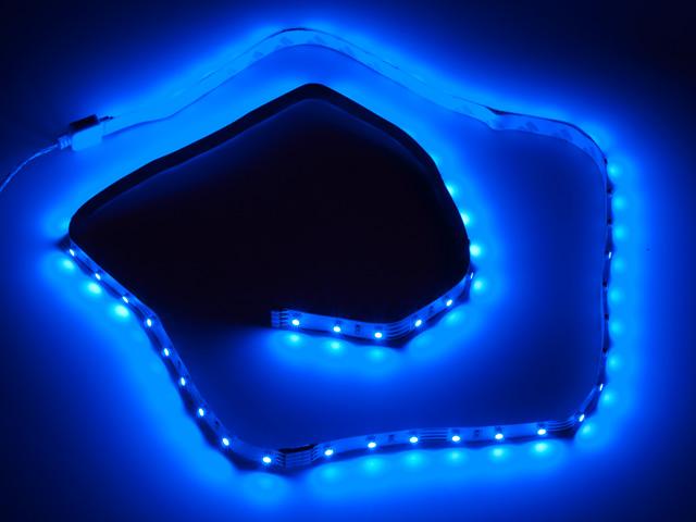 Светодиодная лента для компьютера с синими SMD 0 5метра Vizo LED BL 500