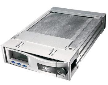 Моддерский Mobile rack с LCD дисплеем  IDE  серебристый