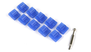 Набор Vizo флуоресцентных синих  молекс мама 10 шт  с инструм   светятся в у ф
