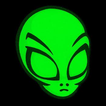 Светящаяся наклейка флуоресцентная Alien светится в УФ
