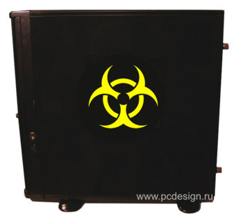Наклейка  Biohazard Yellow   желтая