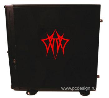 Наклейка  Doom узор   красная