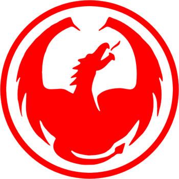 Наклейка  Круг дракона   красная