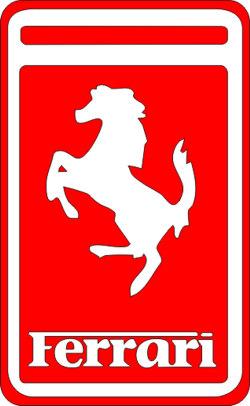 Наклейка  Феррари красная   красная