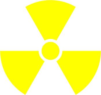 Наклейка  Radiation   желтая