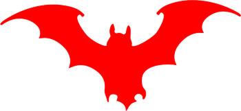 Наклейка  Летучий  Мышь   красная