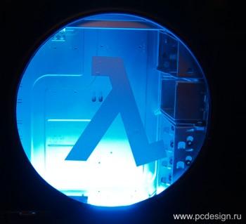 Наклейка гравировочная на окно   Half life   цвет серебристый металик