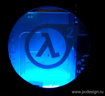 Наклейка гравировочная на окно   Half Life2   цвет серебристый металик
