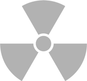 Наклейка на окно   Radioactive   цвет серебристый металик