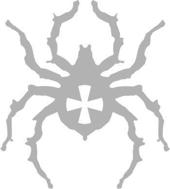 Наклейка гравировочная на окно   Паук крестоносец   цвет серебристый металик