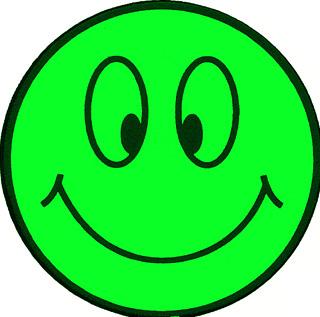 Светящаяся наклейка флуоресцентная Smile светится в УФ