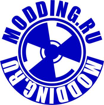Наклейка на одежду  MODDING RU    синяя