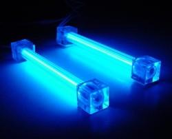 Комплект из 2 х синих ламп 10 см  с инвертором