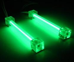 Комплект Revoltec  из 2 х зеленых ламп 10 см  с инвертором