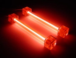 Комплект из 2 х красных ламп 10 см  с инвертором