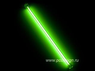 Неоновая лампа зеленая CoolerTech CT TUB G 30см с инвертором
