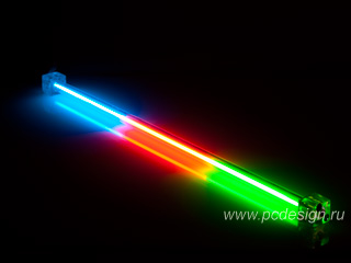 Неоновая лампа 3 x цветная CoolerTech CT TUB T 30см с инвертором