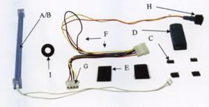 Неоновая лампа фиолетовая  длина 30 см  с инвертором