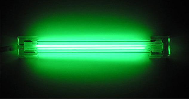 Дополнительная неоновая лампа зеленая 10см без инвертора