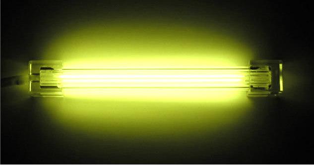 Дополнительная неоновая лампа  желтая  10 см  без инвертора