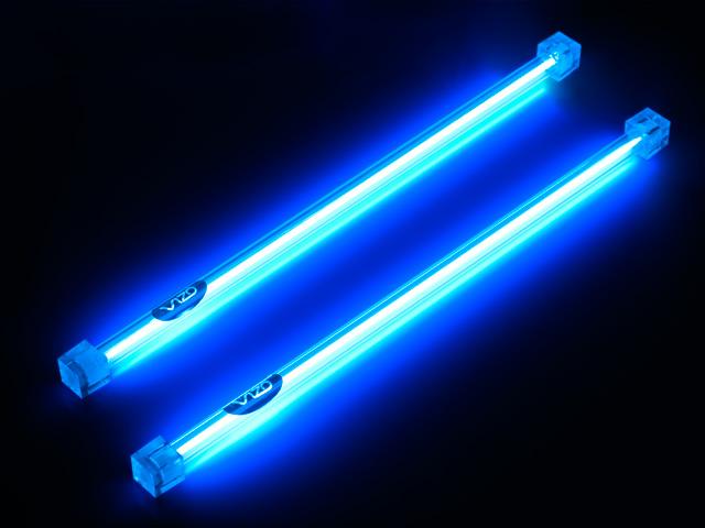 Неоновые лампы синие для компьютера 30 см 2 штуки с инвертором Vizo