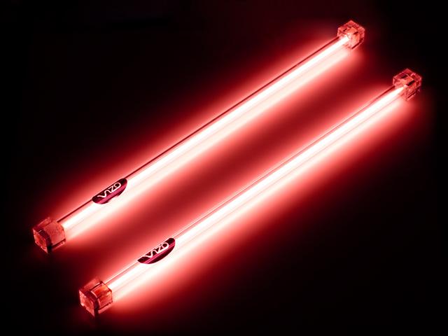 Неоновые лампы красные для компьютера 30 см 2 штуки с инвертором Vizo