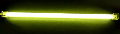 Неоновая лампа желтая  длина 31 см  с инвертором