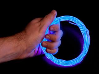 Конструктор Сделай сам неоновый шнур розовый 2 2 мм длина 1 5м