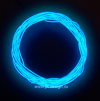 Конструктор Сделай сам неоновый шнур синий диам  3 2 мм длина 1 5м
