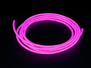 Конструктор Сделай сам толстый неоновый шнур розовый диам  5 мм длина 2 5м