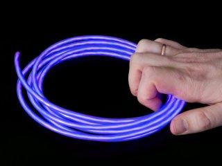 Неоновый шнур фиолетовый   Конструктор Сделай Сам 5 мм х 2 5метра
