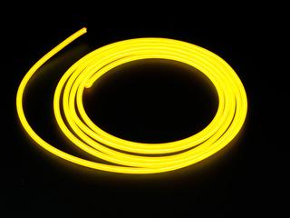 Конструктор Сделай сам толстый неоновый шнур желтый диам  5 мм длина 2 5м