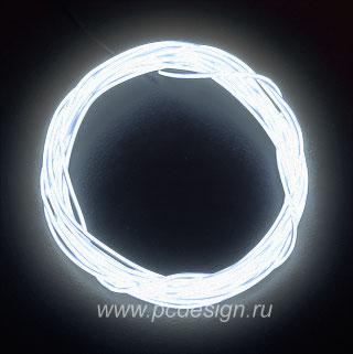 Конструктор Сделай сам неоновый шнур белый диам  2 2 мм длина 1 5м