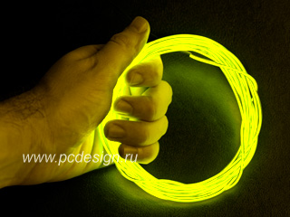 Желтый неоновый шнур