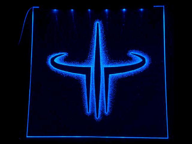Окно ручной работы  с гравировкой и подстветкой  Quake QU 10 Blue  синий