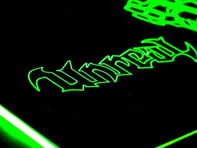 Окно для корпуса с гравировкой и подсветкой   Unreal зеленый UT 20 green