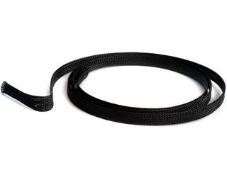 Гибкая оплетка для проводов и кабелей компьютера черная