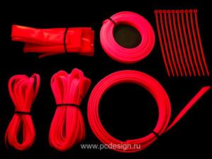 Набор оплетки кислотно розового  цвета
