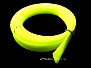 Набор оплетки кислотно желтого  цвета
