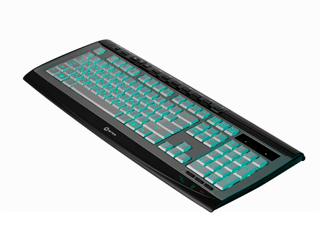 Клавиатура 5bites F21 V3L мульт  с изумруд  подсветкой символов  USB  сереб  чер