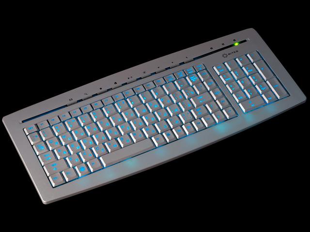 Клавиатура с подсветкой клавиш трехцветной 5bites W9635EL серебристая USB