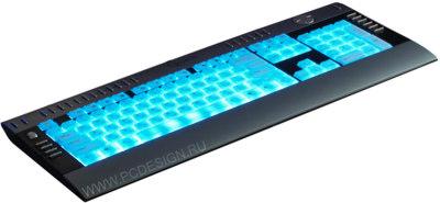 Моддерская клавиатура с подсветкой  серебристо черная  USB  мультимедийная