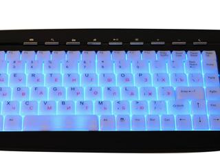 Клавиатура с подсветкой KB 9835LU R черная USB мультимедийная