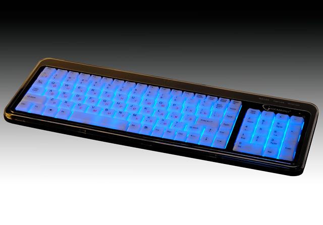 Клавиатура с подсветкой USB KB 9845L UR черная
