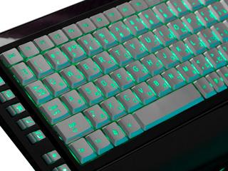 Клавиатура с подсветкой символов изумрудной KB 9630SB R мулт  черн  серб