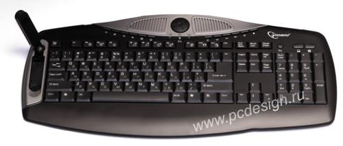 Клавиатура VoIP Skype совместимая  SKY KB1 R USB  с  микроф  и стерео колонк