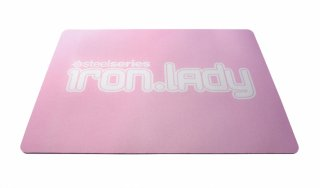 Профессион  игровой тряпичный коврик SteelSeries IRON LADY QcK розовый