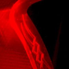 Профессиональный геймерский коврик xRaider  с красной подсветкой
